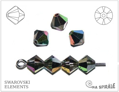Swarovski sluníčko 6 mm, vitrail medium, 1 ks