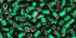 TOHO TH-08-36 Hex 8, Silver Lined Green Emerald, 10 g