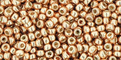 TOHO Permanent Finish Galvanized Rose Gold, TR-11-PF551, 10 g