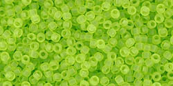 TOHO Transparent-Frosted Lime Green, TR-15-4F, 5 g