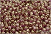 Meloun - melon bead 4 mm, Crystal Violet-Gold Luster, 50 ks