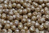 Meloun - melon bead 6 mm, Chalk Herbs&Spices Caraway, 30 ks