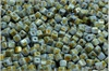 Cube beads - kostičky 4 mm, Chalk Herbs&Spices Sage, 50 ks