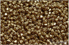 Lucerny 4x4 mm, Crystal Gold, 100 ks
