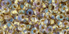 TOHO Magatama 3 mm, Ins-Col Crystal/Gold Lined, TM-03-262, 10 g