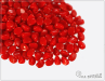Pohanka baby Opaque Red, 4x3 mm, 50 ks
