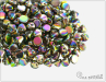 Button Bead 4 mm, Crystal Vitrail Full, 30 ks