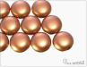 Preciosa Candy 12 mm, Silky Metallic Copper, 1 ks