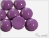 Dome Bead 14x8 mm, Fiesta Holyhock Purple, 1 ks