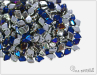 Dragon Scale Bead, Crystal Bermuda Blue, 2,5 g