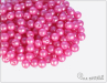 Kuličky 4 mm, Pearl Shine Light Fuchsia, 100 ks