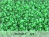 Matubo 7/0, transparent frosted green, 10 g
