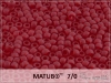 Matubo 7/0, transparent frosted ruby, 10 g