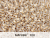 Matubo 8/0, Crystal Bronze Ice Lined, 10 g
