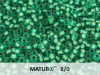 Matubo 8/0, Emerald Bronze Ice Lined, 10 g