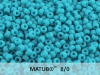 Matubo 8/0, Opaque Dark Turquoise Matted, 10 g