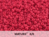 Matubo 8/0, Opaque Red Matted, 10 g