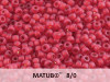 Matubo 8/0, Ruby Bronze Ice Lined, 10 g