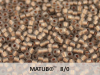 Matubo 8/0, Smoke Grey Bronze Ice Lined, 10 g