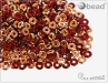 O-bead, transparent red capri gold, 2,5 g