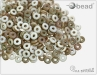 O-bead, chalk white celsian matted, 2,5 g