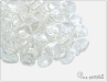 Rose petal 7x8 mm, Crystal White Luster, 50 ks