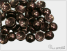 Piggy beads, Metallic Chocolate, 8x4 mm, 30 ks