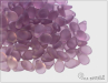 Preciosa Pip™ 5x7 mm, transparent amethyst mat, 30 ks