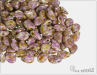 Preciosa Pip™ 5x7 mm, Alabaster Senegal Brown Purple, 30 ks