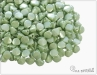 Pohanka chalk green luster, 5x3,5 mm, 50 ks