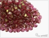 Pohanka crystal red luster, 5x3,5 mm, 50 ks