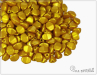 Pohanka Gold Shine Yellow Sun, 5x3,5 mm, 50 ks