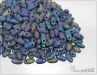 RIZO beads, matted blue iris, 10 g
