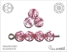Swarovski kulička 6 mm, light rose, 1 ks