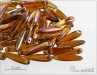 Preciosa THORN, crystal caramel, 16x5 mm, 12 ks