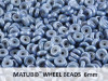 Wheel Beads, 6 mm, chalk blue luster, 10 g