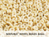 Wheel Beads, 6 mm, chalk champagne luster, 10 g