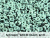 Wheel Beads, 6 mm, chalk green luster, 10 g