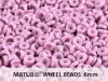 Wheel Beads, 6 mm, chalk lila luster, 10 g