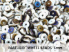 Wheel Beads, 6 mm, chalk azuro matted, 10 g