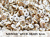 Wheel Beads, 6 mm, chalk celsian, 10 g