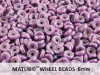 Wheel Beads, 6 mm, Antique Blueberry, 10 g