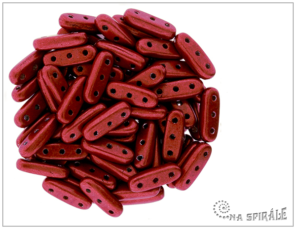 CzechMates Beams 10 mm, Saturated Metallic Aurora Red, 20 ks