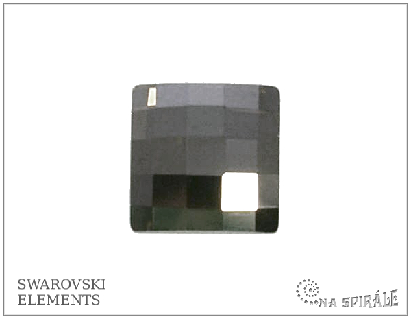 Swarovski Chessboard 10 mm, Crystal Met Silver, 1 ks