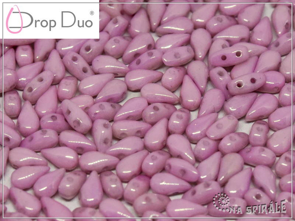 DropDuo 3x6 mm, Chalk Lila Luster, 30 ks