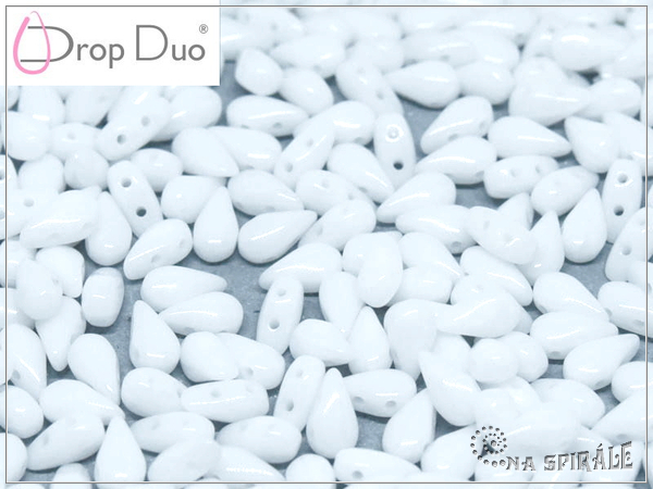 DropDuo 3x6 mm, Chalk White, 30 ks