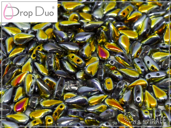 DropDuo 3x6 mm, Crystal Marea Full, 30 ks