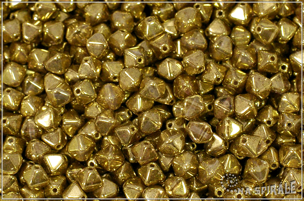 Lucerny 6 mm, Crystal Gold, 20 ks