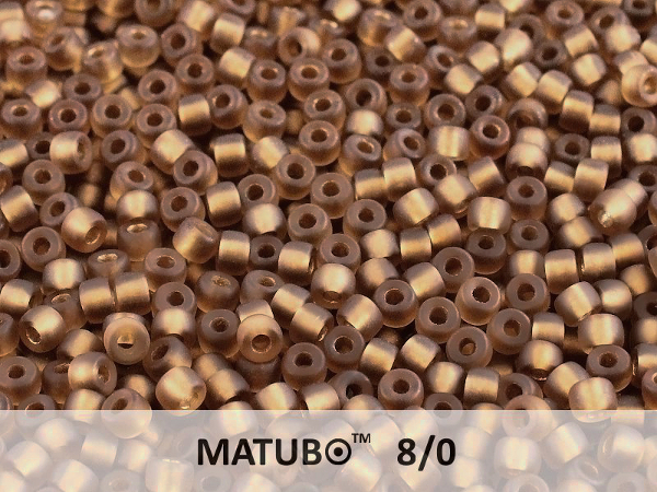 Matubo 8/0, Dark Topaz Bronze Ice Lined, 10 g
