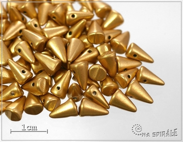 Trn AMC Silky Metallic Sand, baby - 8x5 mm, 1 ks
